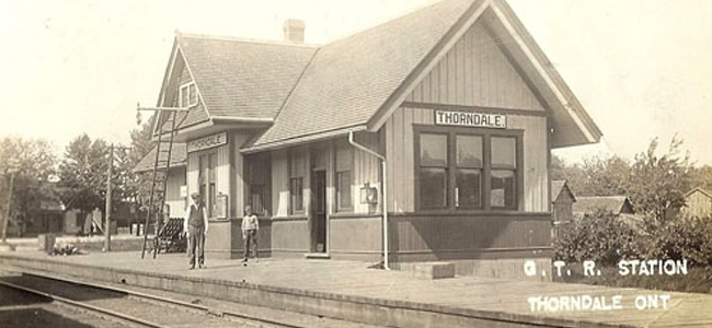 grand trunk station thorndale ontario