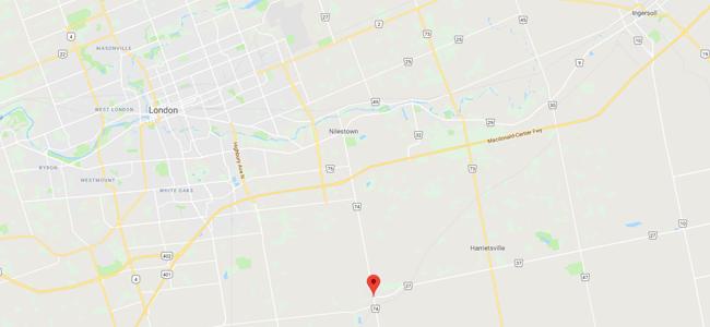 Map of Belmont, Ontario