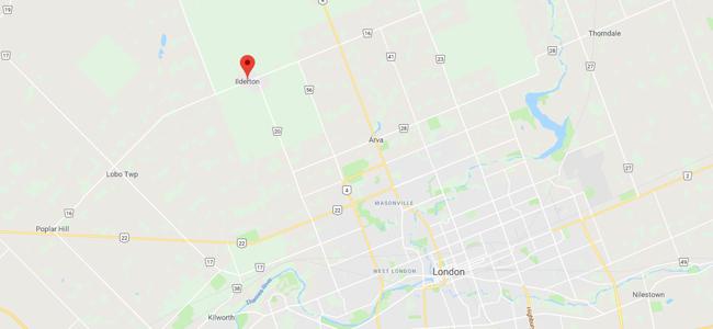 Map of Ilderton, Ontario