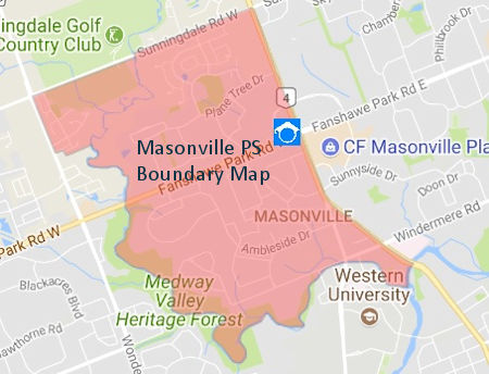 Masonville Public School London ON Boundary Map