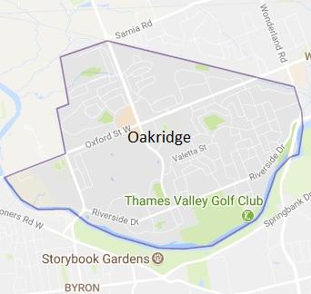 Oakridge London Ontario Area Map