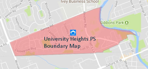 University Heights Public School Boundary Map