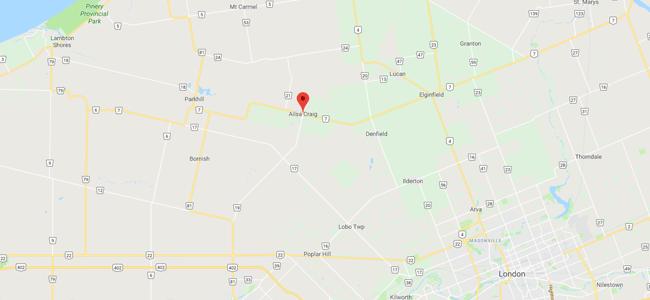 Map of Ailsa Craig, Ontario