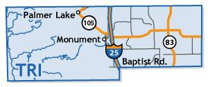 Tri-Lakes Colorado Springs Map