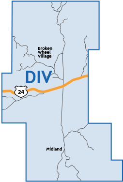 divide Colorado Springs Map