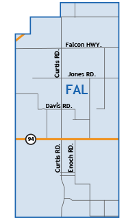 Falcon Colorado Springs Map