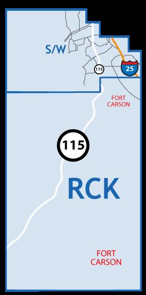 Southwest Colorado Springs Map