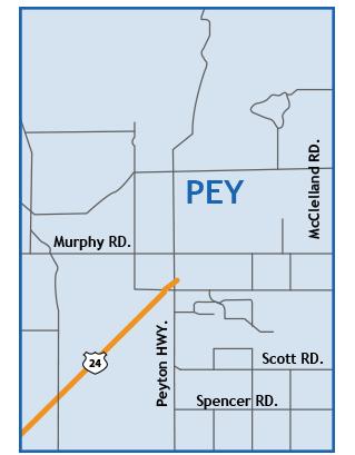 peyton Colorado Springs Map