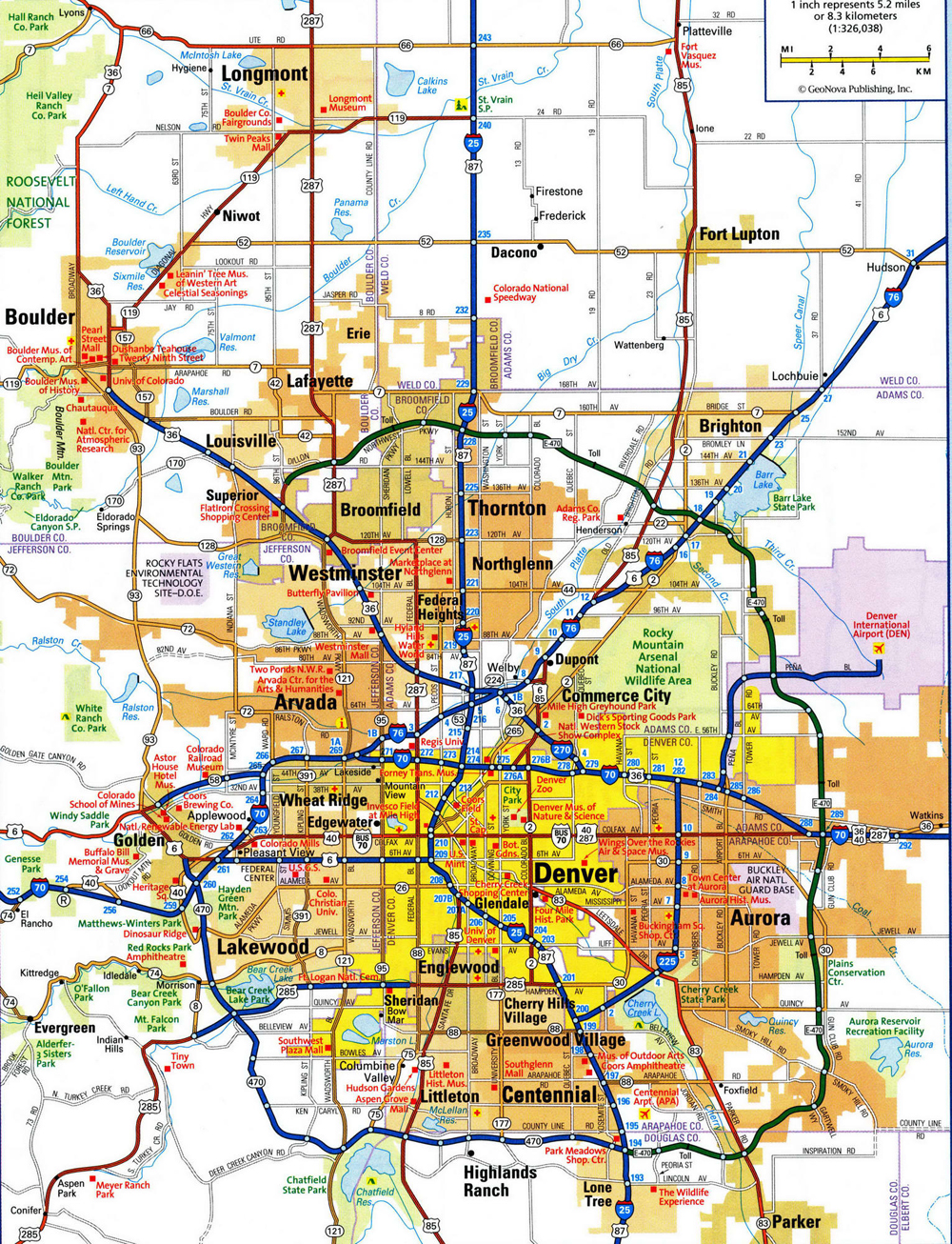 map of metro denver area Metro Denver Map map of metro denver area