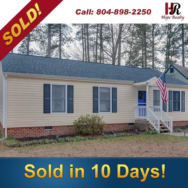 Sold in 10 Days in Chester Virginia