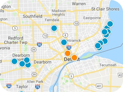 Metro Detroit Real Estate Map Search