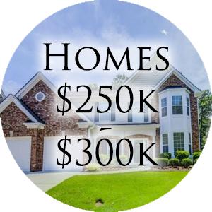 Homes $250k - $300k