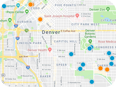 Colorado Front Range Real Estate Map Search