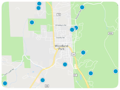 Woodland Park Real Estate Map Search