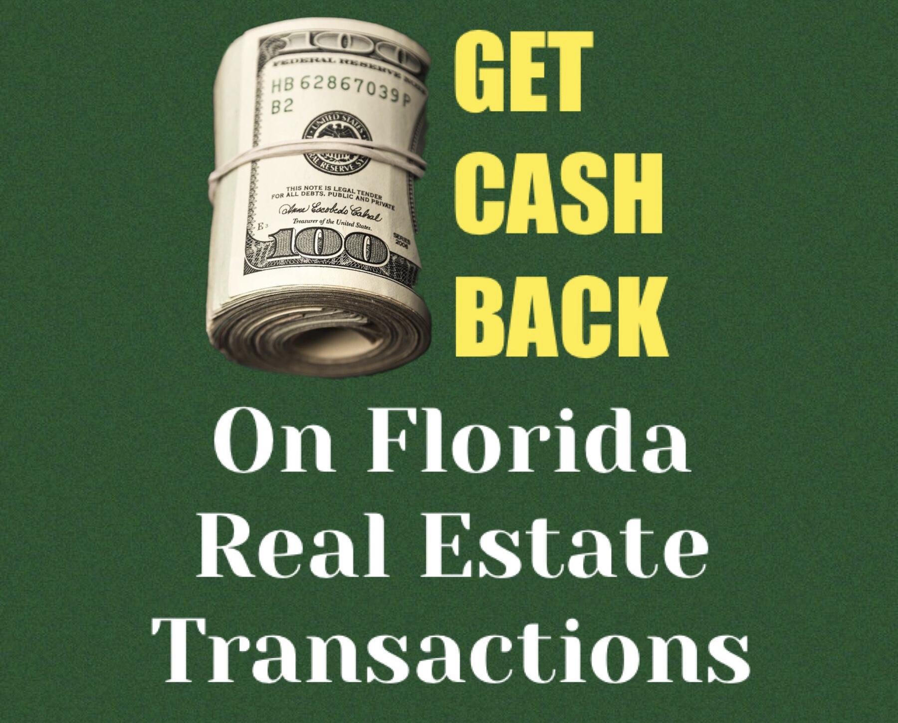 Get cash back on real estate