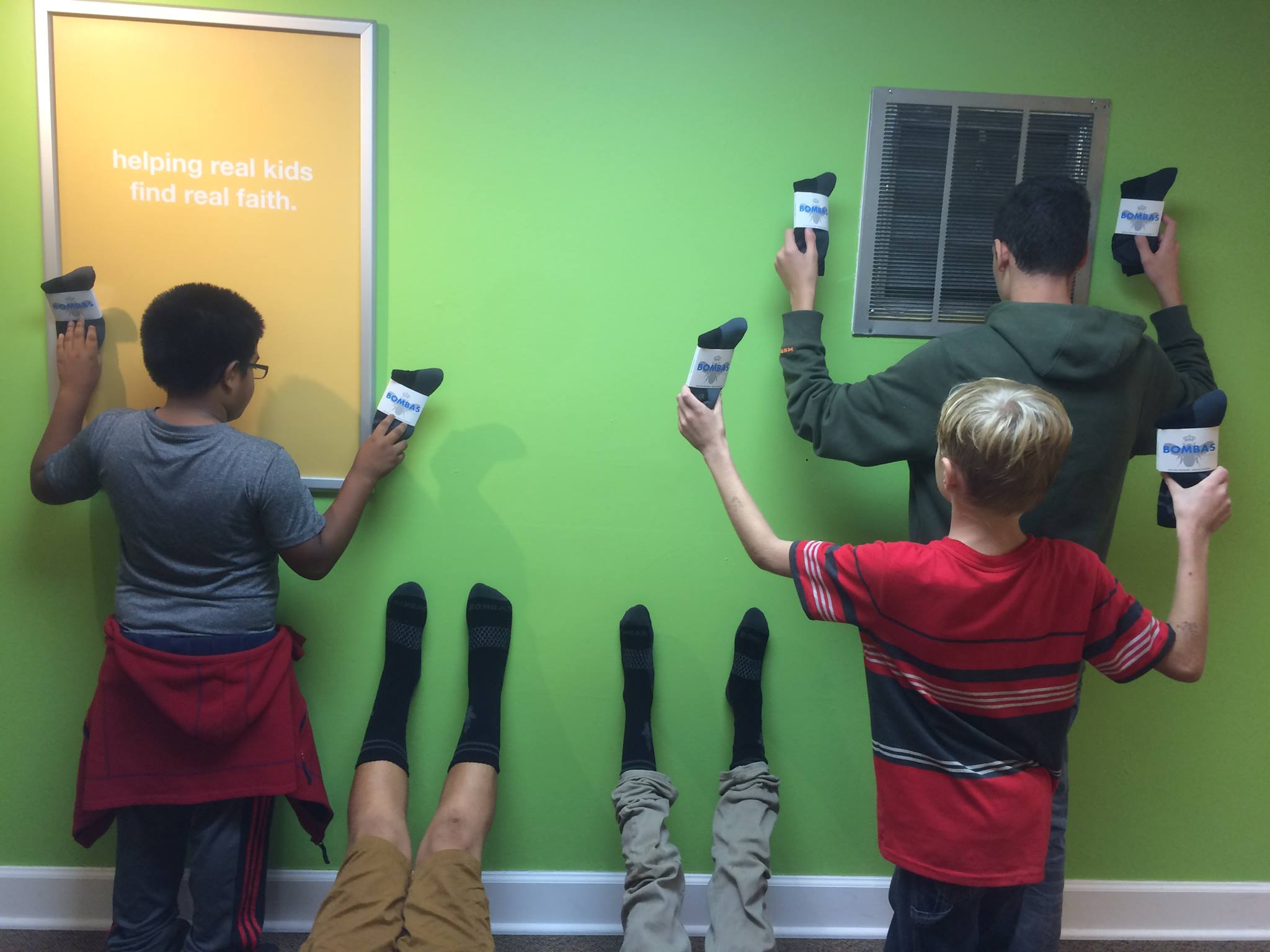 Boys Having Fun With Their New Socks From Bombas