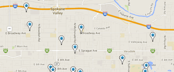 Spokane Valley Homes for Sale Interactive Map