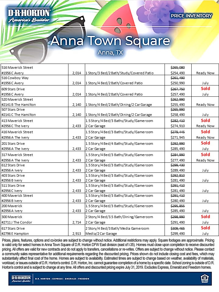 Inventory in Anna Town Square