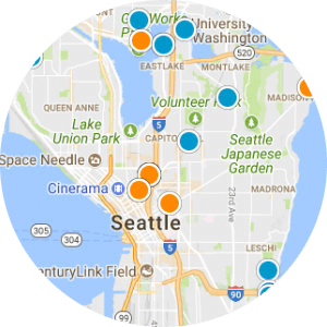 Kirkland East of Market Real Estate Map Search