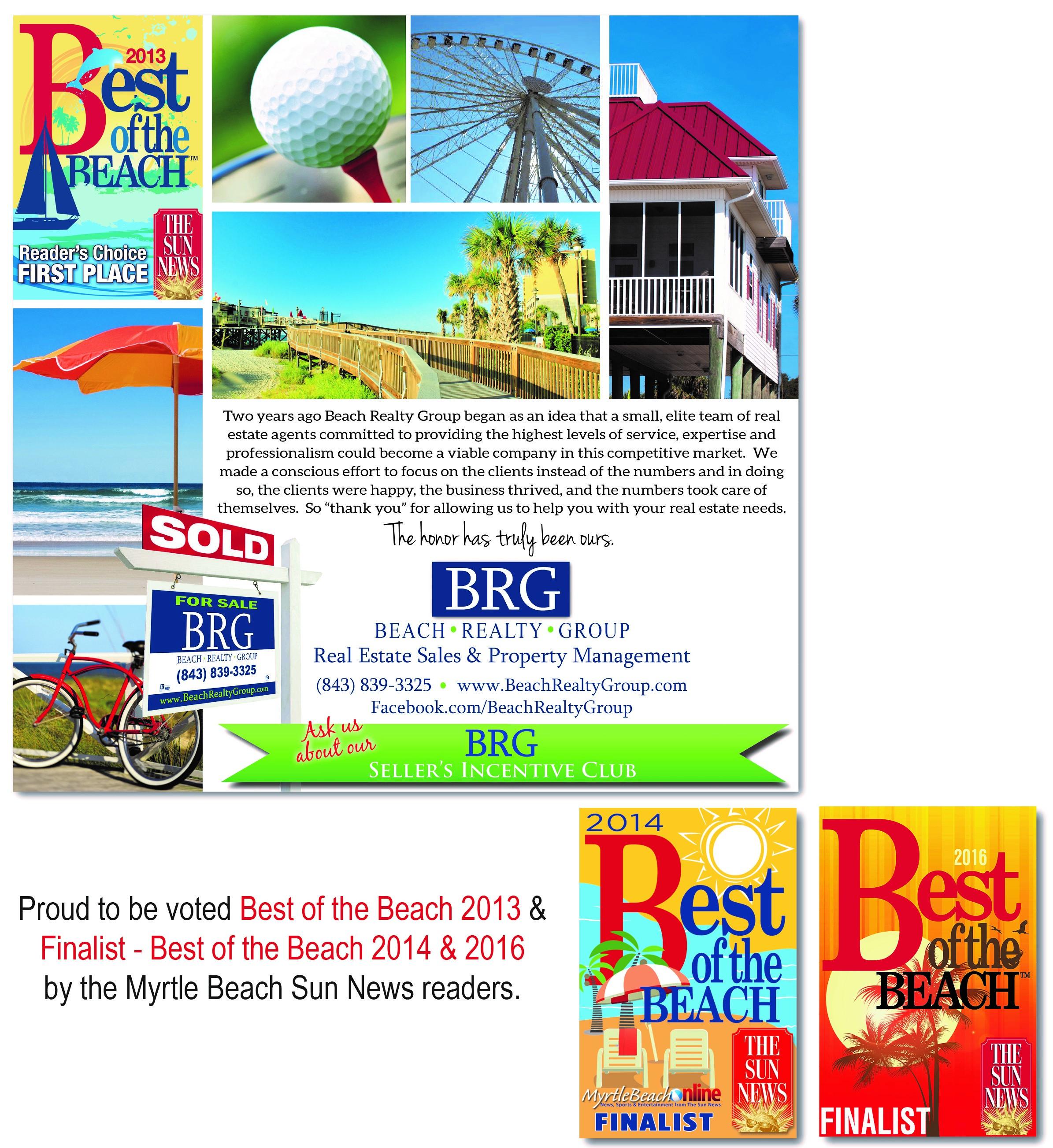 Sun News Best of the Beach - Beach Realty Group