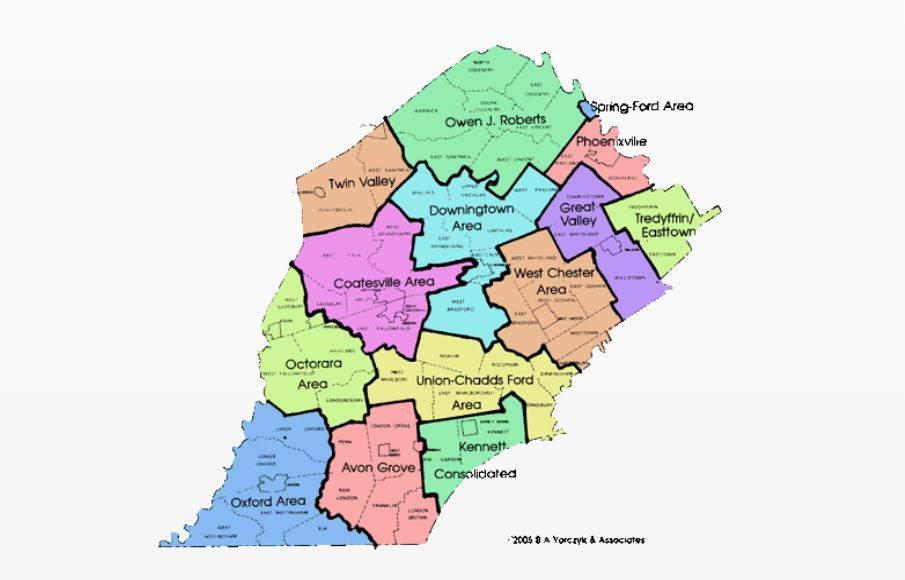 Chester County Districts Map on