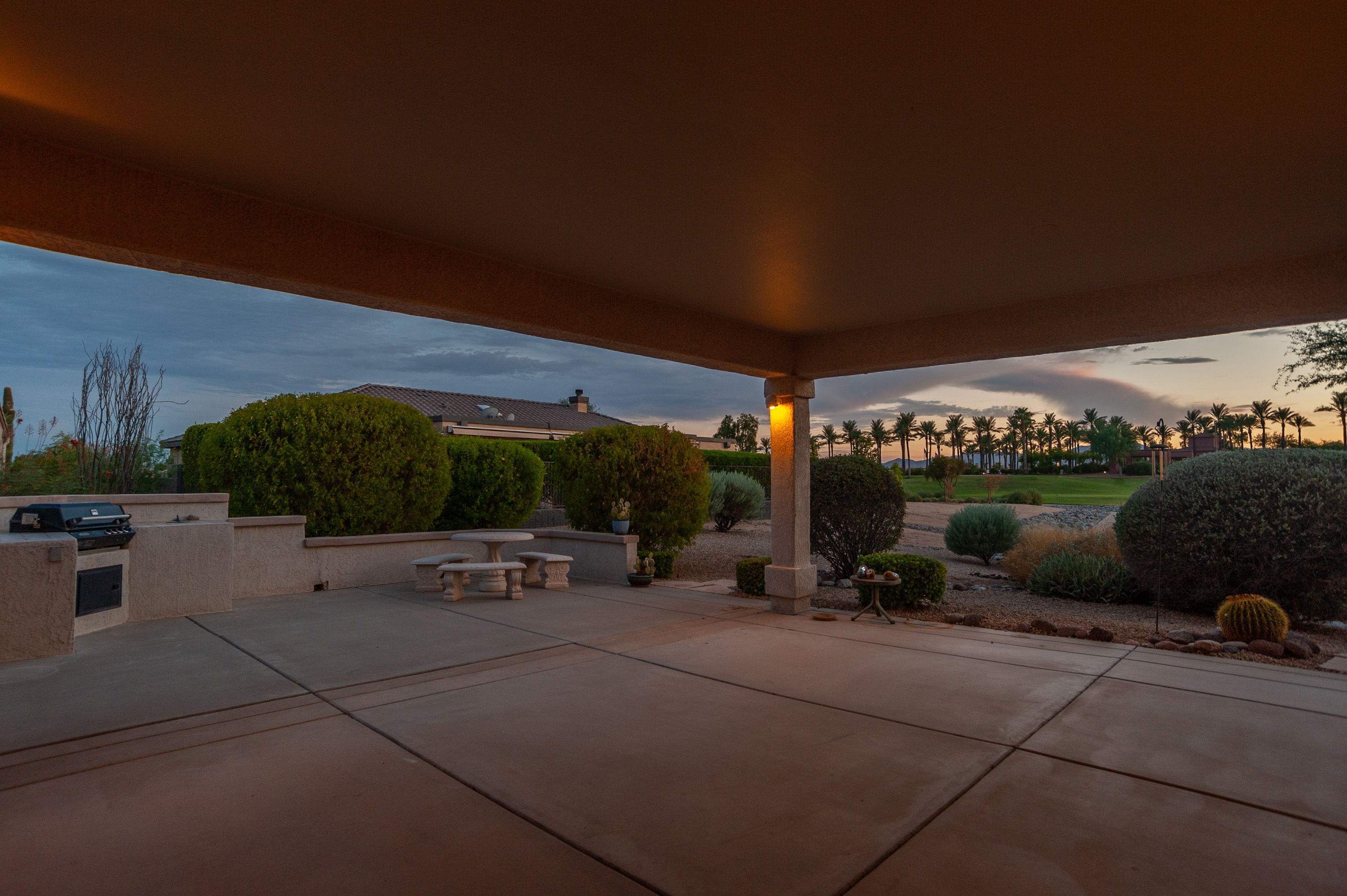 15873 W Sage Trail Evening on the patio