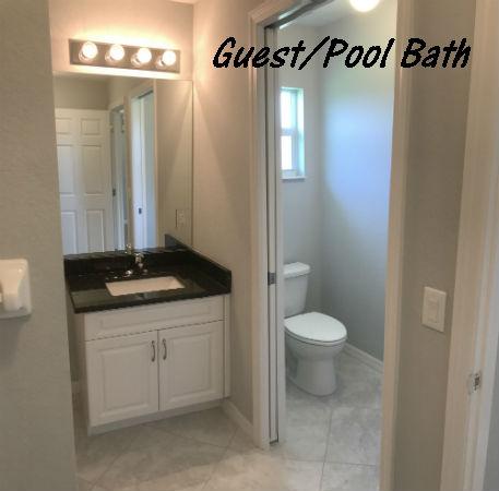 Pool Bath Photo Hansen Home built 2018 Cape Coral