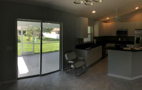 Lanai Kitchen View 2018 Hansen Built Home Cape Coral Florida
