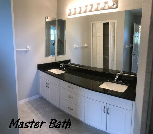 Master Bath Photo Hansen built 2018 single family Cape Coral