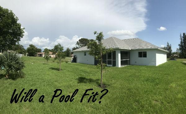 Backyard Hansen Built  home 2018 Cape Coral Florida