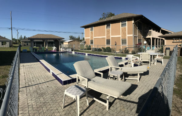 Pool Area for Par Side Condo in Cape Coral