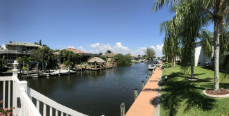 Nice  view down gulf access canal from Calypso Cove Condo