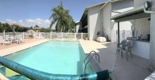The pool is always ready at Calypso Cove Condo Cape Coral