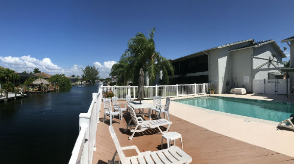 Relax in the pool at Calypso Cove Condo SW Cape Coral
