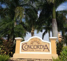 Concordia Condos Cape Coral Entrance
