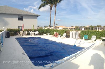 Coral Key Condo Pool on Gulf Access canal