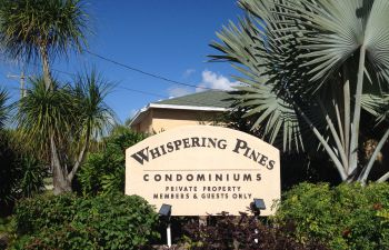 Entrance to Whispering Pines Golf Course Cape Coral