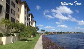 Front Entrance to the Rivers Two Condos Cape Coral