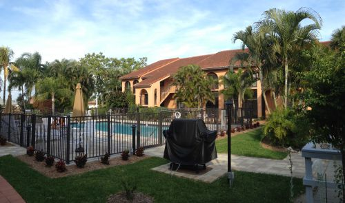 Rose Garden Villas Pool and BBQ Area