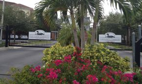 Entry Gate to Van Loon Commons Cape Coral