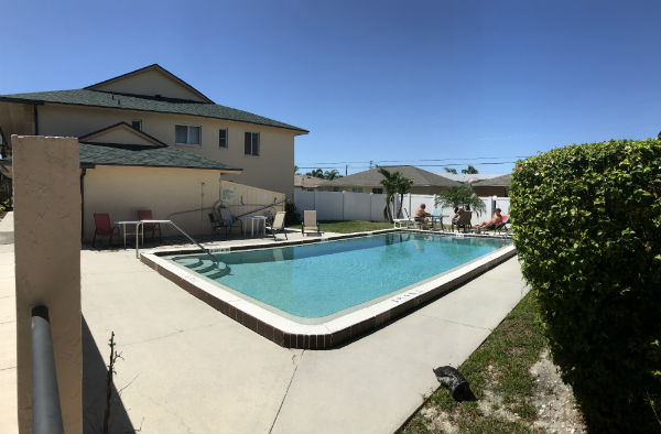 Enjoy the pool at Cape Parkway Condo in Cape Coral Florida
