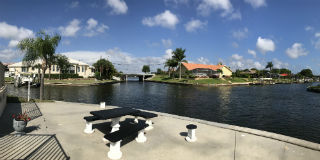 Intersecting gulf access canals at Cape Regatta Cape Coral