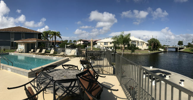 Poolside enjoyment along the waterfront at Cape Regatta Cape Coral