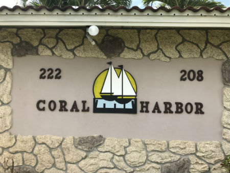 Coral Harbor Sign Cape Coral Florida