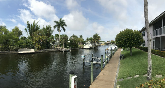 Direct Gulf Access Canal at Coral Harbor Cape Coral Florida