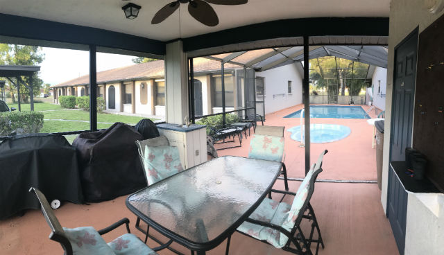 Pool Enclosure Area Corinthian Condo Cape Coral