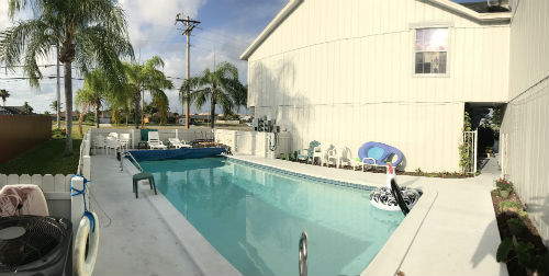 Community Pool at Daves Court Cape Coral