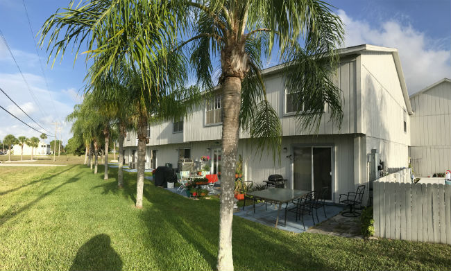 Rear yard at Daves Court Townhomes Cape Coral