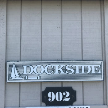Dockside Sign at 902 SW 48th Terrace Cape Coral
