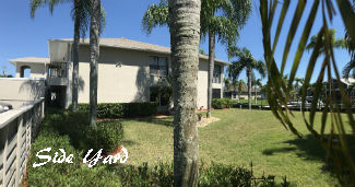 Side Yard at Dockside Condo Cape Coral
